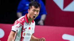 Indosport - Lu Guang Zu, tunggal putra China, menanggapi kekalahannya di final Piala Thomas 2020.