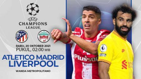 Berikut link live streaming pertandingan grup Liga Champions 2021-2022 antara Atletico Madrid vs Liverpool, Rabu (20/10/21) pukul 02.00 dini hari WIB. - INDOSPORT