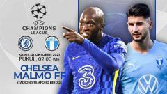 Indosport - Berikut prediksi pertandingan Liga Champions 2021/22 grup H antara Chelsea vs Malmo FF, Kami (21/10/21) WIB.
