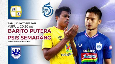Berikut link live streaming pertandingan pembuka pekan kedelapan kompetisi kasta tertinggi Liga 1 musim 2021-2022 antara Barito Putera vs PSIS Semarang. - INDOSPORT