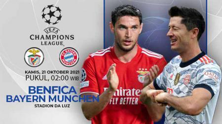 Raksasa Bundesliga, Bayern Munchen, akan bertemu Benfica di matchday ketiga Liga Champions, Kamis (21/10/21) pukul 02.00 WIB. - INDOSPORT