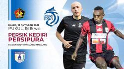 Pertandingan antara Persik Kediri vs Persipura Jayapura (Liga 1 BRI).