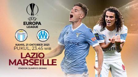 Link live streaming pertandingan matchday ketiga Liga Europa 2021/2022 Grup E antara Lazio vs Olympique Marseille yang digelar pada Kamis (21/10/2021) 23.45 WIB - INDOSPORT