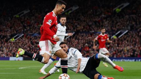 Aksi Cristiano Ronaldo (Man United) di laga melawan Atalanta (21/10/21). - INDOSPORT