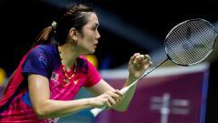 Indosport - Pebulutangkis Malaysia, Lai Pei Jing, memberikan pujian kepada Greysia Polii pada sela-sela turnamen Denmark Open 2021 di Odense.