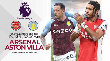Berikut link live streaming pertandingan pekan ke-9 Liga Inggris 2021/2022 antara Arsenal vs Aston Villa, Sabtu (23/10/21) pukul 02.00 WIB. - INDOSPORT