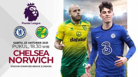 Berikut prediksi pertandingan Liga Inggris 2021/2022 pekan ke-9 antara Chelsea vs Norwich City, Sabtu (23/10/21). - INDOSPORT