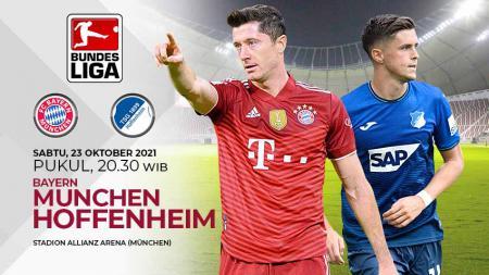 Bayern Munchen akan menjamu Hoffenheim pada pekan ke-9 Bundesliga Jerman 2021/22 di Allianz Arena, Sabtu (23/10/21) pukul 20.30 WIB. - INDOSPORT