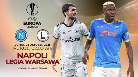 Berikut prediksi pertandingan lanjutan pekan ketiga fase Grup C Liga Europa musim 2021-2022 antara tuan rumah Napoli vs Legia Warszawa. - INDOSPORT