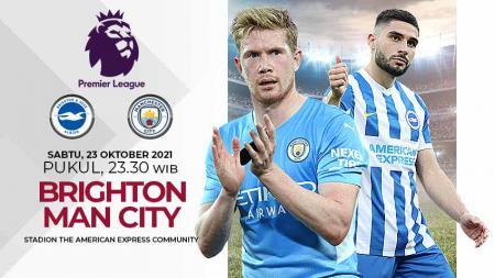 Berikut prediksi pertandingan pekan kesembilan Liga Inggris antara Brighton vs Manchester City, Sabtu (23/09/21) pukul 23.30. - INDOSPORT