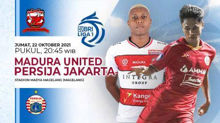 Berikut link live streaming pertandingan lanjutan pekan kedelapan kompetisi kasta tertinggi Liga 1 musim 2021-2022 antara Madura United vs Persija Jakarta. - INDOSPORT