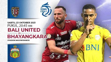 Berikut link live streaming pertandingan lanjutan pekan kedelapan Liga 1 antara Bali United vs Bhayangkara FC pada Sabtu (23/10/21) pukul 20.30 WIB. - INDOSPORT