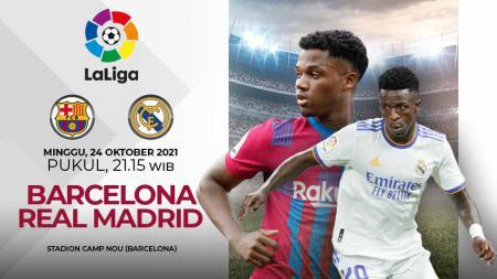 Prediksi untuk pertandingan pekan kesembilan Liga Spanyol 2021/2022 antara Barcelona vs Real Madrid pada Sabtu (24/10/21) pukul 21.15 WIB. - INDOSPORT