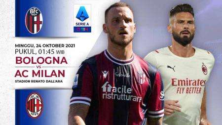 Link Live Streaming Liga Italia: Bologna vs AC Milan - INDOSPORT