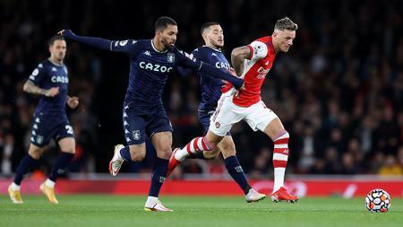 Arsenal vs Aston Villa di Liga Inggris. - INDOSPORT