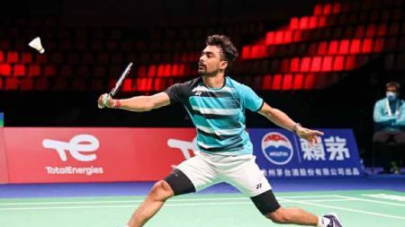 Pebulutangkis tunggal putra India, Sameer Verma mengalami cedera di Denmark Open 2021. - INDOSPORT