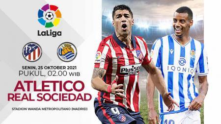 Berikut prediksi pertandingan pekan ke-10 LaLiga Spanyol 2021-2022 antara Atletico Madrid vs Real Sociedad pada Senin (25/10/21) pukul 02:00 WIB. - INDOSPORT