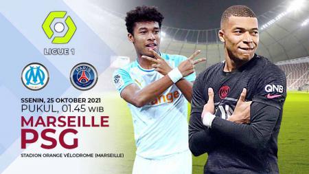 Berikut prediksi pertandingan Ligue 1 Prancis yang akan mempertemukan Marseille vs PSG, Senin (25/10/21) dini hari WIB. - INDOSPORT