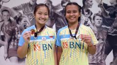 Indosport - Pasangan ganda putri Indonesia, Meilysa Trias Puspita Sari/Rachel Allessya Rose juara Denmark Junior 2021.