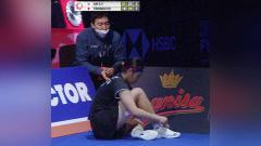 Indosport - An Se-young mengalami cedera hingga dihujani kartu merah di final Denmark Open 2021