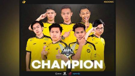 ONIC Esports keluar sebagai juara MPL Indonesia Season 8. - INDOSPORT