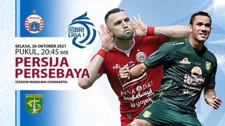 Persija Jakarta kembali mendapat hadangan berat pada pekan 9 Liga 1 2021-2022 di mana Macan Kemayoran akan menghadapi Persebaya Surabaya, Selasa (26/10/21. - INDOSPORT