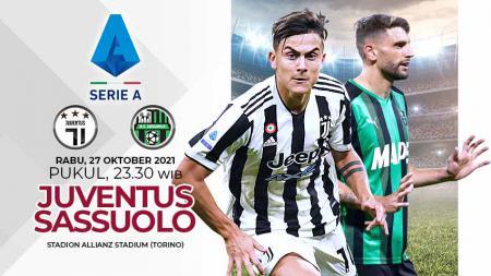 Berikut link live streaming Liga Italia 2021-2022 pekan ke-10 antara Juventus vs Sassuolo, Rabu (27/10/21) mulai pukul 23.30 WIB. - INDOSPORT