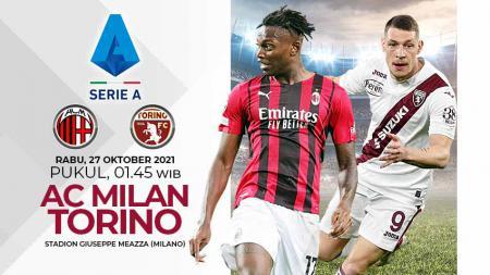 Beriku link live streaming pertandingan pekan ke-10 Liga Italia antara AC Milan vs Torino yang berlangsung di San Siro, Rabu (27/10/21) mulai pukul 01.45 WIB. - INDOSPORT