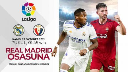 Pertandingan antara Real Madrid vs Osasuna (LaLiga). - INDOSPORT