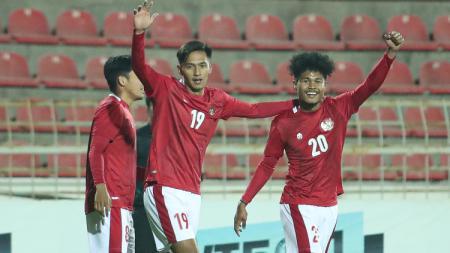 Selebrasi Bagus Kahfi bersama Timnas Indonesia - INDOSPORT