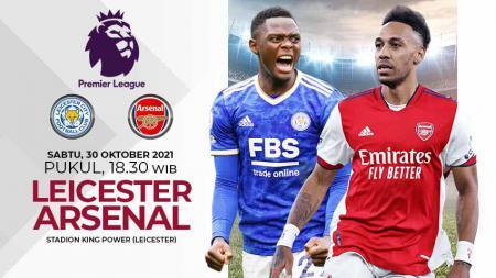 Pertandingan antara Leicester City vs Arsenal (Liga Inggris). - INDOSPORT