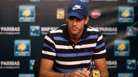 Petenis rangking 15 ATP Juan Del Potro,, Kamis (11/09/14), mengaku kecewa bakal absen di turnamen tenis yang bakal berlangsung di asia dan eropa akibat belum tuntasnya pemulihan cederanya. - INDOSPORT