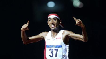 Agus Prayogo berhasil memecahkan rekor nasional ketika mengikuti ajang lari maraton di Gold Coast Marathon 2019. - INDOSPORT