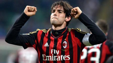 Ricardo Kaka saat masih menjadi pemain AC Milan dan kemungkinan besar akan kembali ke klub lawasnya tersebut dengan peran berbeda. Claudio Villa/Getty Images. - INDOSPORT