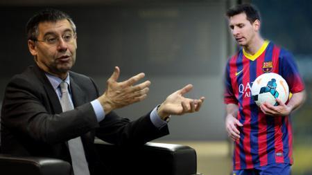 Tak mau cari gara-gara lagi, Josep Maria Bartomeu selaku presiden Barcelona tak mau bermasalah dengan Lionel Messi. - INDOSPORT