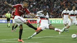 Kevin Prince Boateng, saat dirinya berseragam AC Milan dalam pertandingan Serie A Italia.