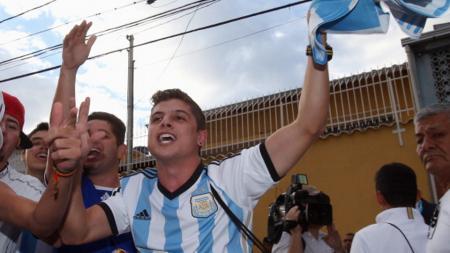 Ilustrasi fans Argentina. - INDOSPORT