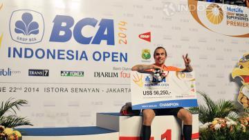 Jan O. Jorgensen, juara tunggal putra Indonesia Open 2014.
