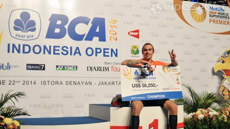 Jan O. Jorgensen, juara tunggal putra Indonesia Open 2014. - INDOSPORT
