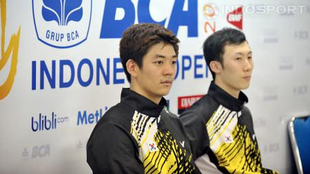 Lee Yong Dae/Yoo Yeon Song, juara ganda putra Indonesia Open 2014. - INDOSPORT