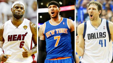 LeBron James, Carmelo Anthony dan Dirk Nowitzki - INDOSPORT