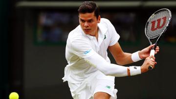 Milos Raonic, 25, saat bermain di Wimbledon.