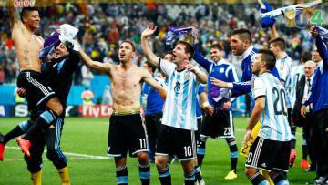 Skuad Argentina menjadi juara di hadapan pasien RS Garrahan.