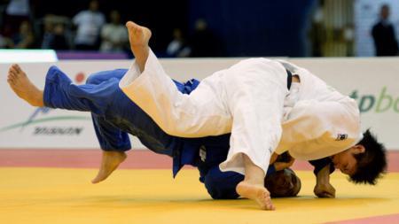Ilustrasi pertandingan judo. - INDOSPORT