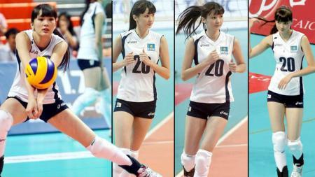 Pemain voli asal Kazakhtan, Sabina Altynbekova menjadi sorotan publik sejak pertandingan yang diikutinya di Taipei pada 2014 lalu. - INDOSPORT