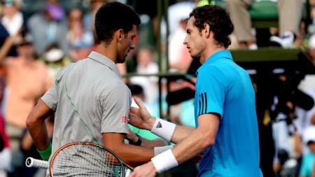 Novak Djokovic dan Andy Murray (kanan) - INDOSPORT