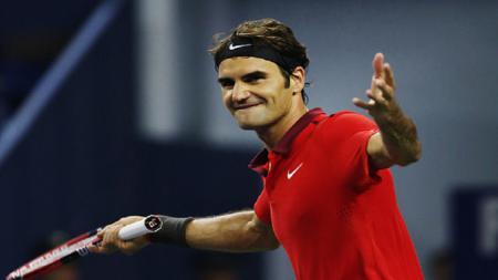 Roger Federer lolos ke babak ketiga Shanghai Masters 2014. - INDOSPORT