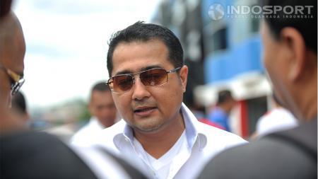 Teuku Riefky Harsya menyatakan dukungannya terhadap pengembangan industri olahraga otomotif, Sentul, Jawa Barat, Minggu (30/11/14). - INDOSPORT