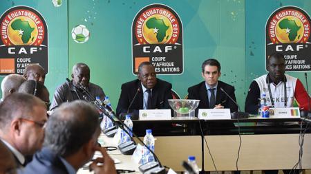 Konferensi pers Konfederasi Sepak Bola Afrika (CAF). - INDOSPORT