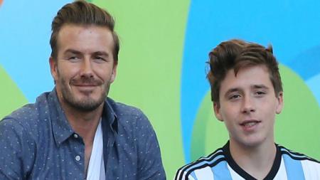 David Beckham dan sang istri, Victoria, tak segan mengeluarkan dana khusus untuk pesta ulang tahun putra sulung mereka, Brooklyn. - INDOSPORT